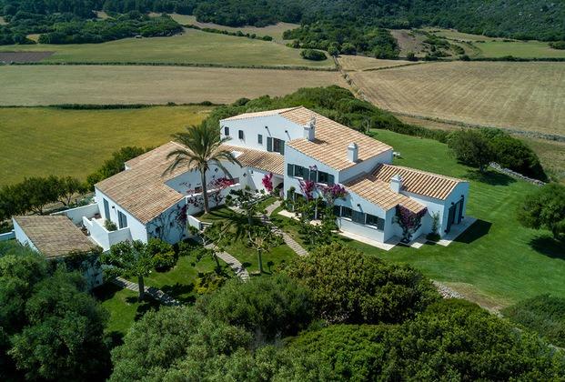 Vista aérea casa rural Son Felip Menorca diariodesign