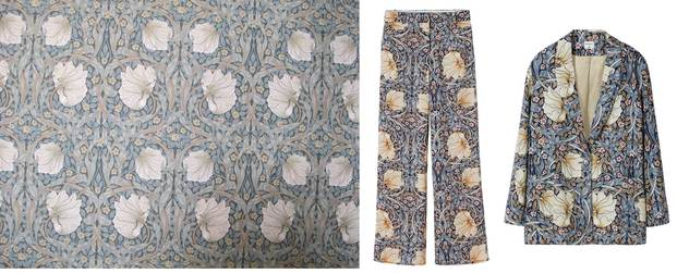 Estampado de flores H&M William Morris diariodesign