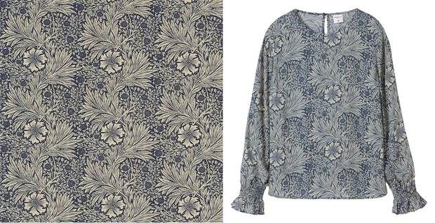 Pattern flowers H&M William Morris diariodesign