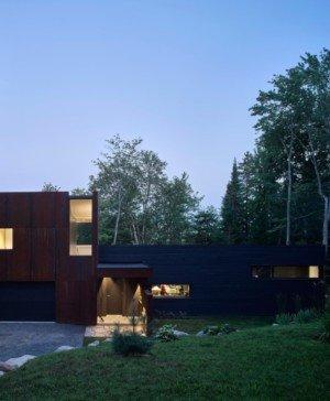 cabaña de estilo contemporaneo en un lago del quebec hecha por paul bernier diariodesign