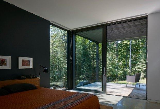 cabaña moderna en un lago del quebec hecha por paul bernier dormitorio diariodesign