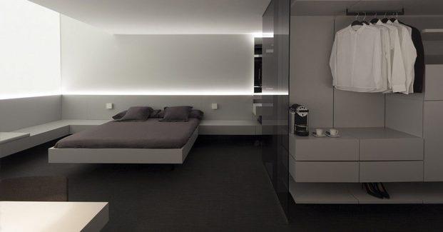 habitación hotel gris dirariodesign