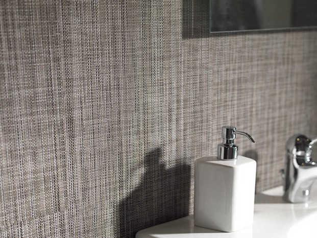 pared con vinilo textura gris diariodesign