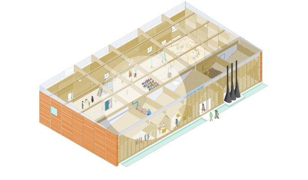 render maison du projet economía circular diariodesign
