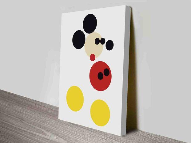 Cuadro abstracto moderno Mickey Mouse Damien Hirsh diariodesign