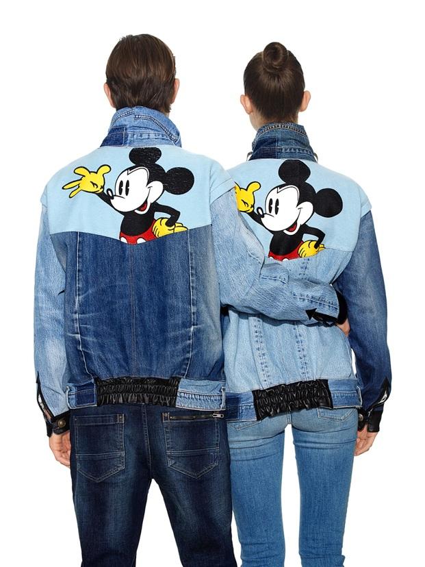 Cazadora tejana vaquera denim Design Mickey Mouse diariodesign