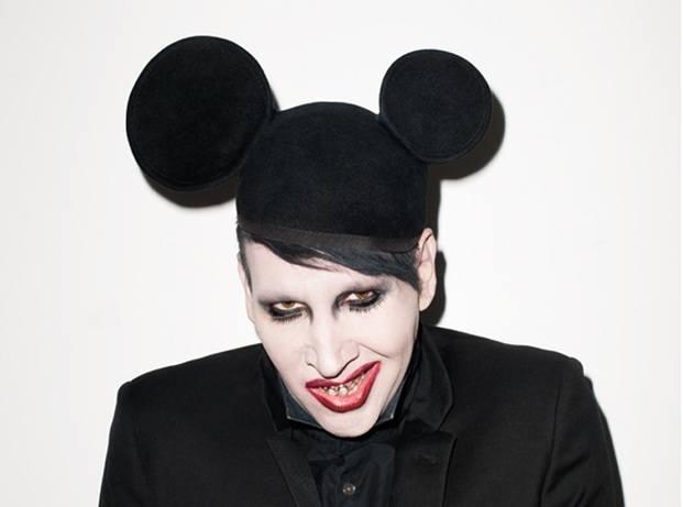 Marilyn Manson con orejas de Mickey Mouse diariodesign