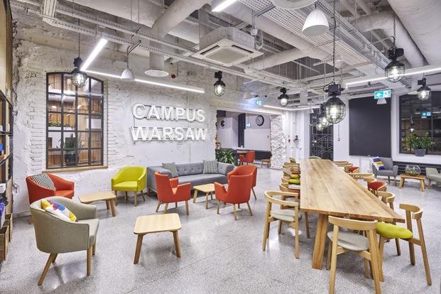 campus google varsovia espacio coworking industrial
