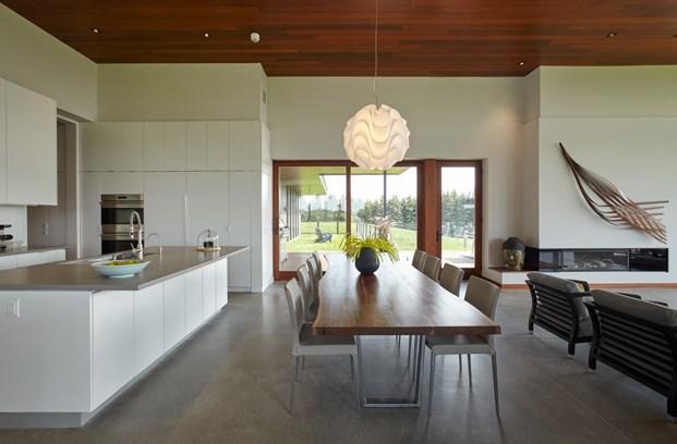 cocina y comedor construcción rural en toronto diariodesign