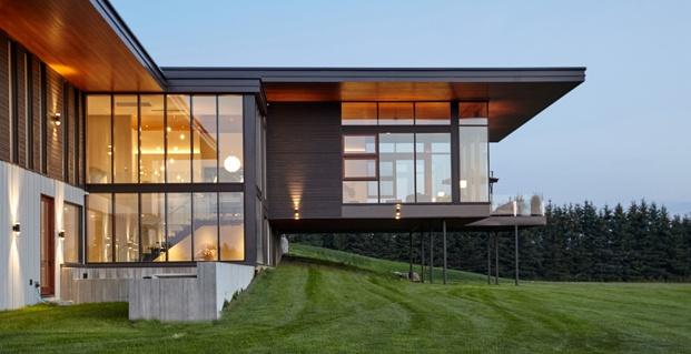 exterior ventanas y voladizo construcción rural en toronto diariodesign