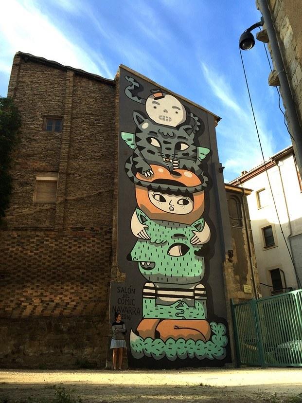 big totem de amaia arrazola arte urbano diariodesign