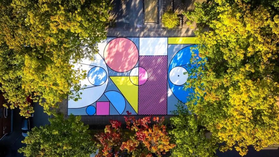 campos deportivos de diseño colores geometría