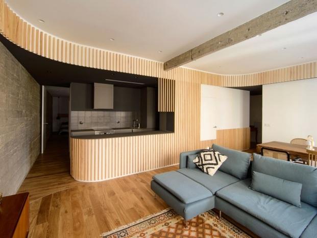 cocina abierta casa garmendia cordero arquitectos en bilbao diariodesign