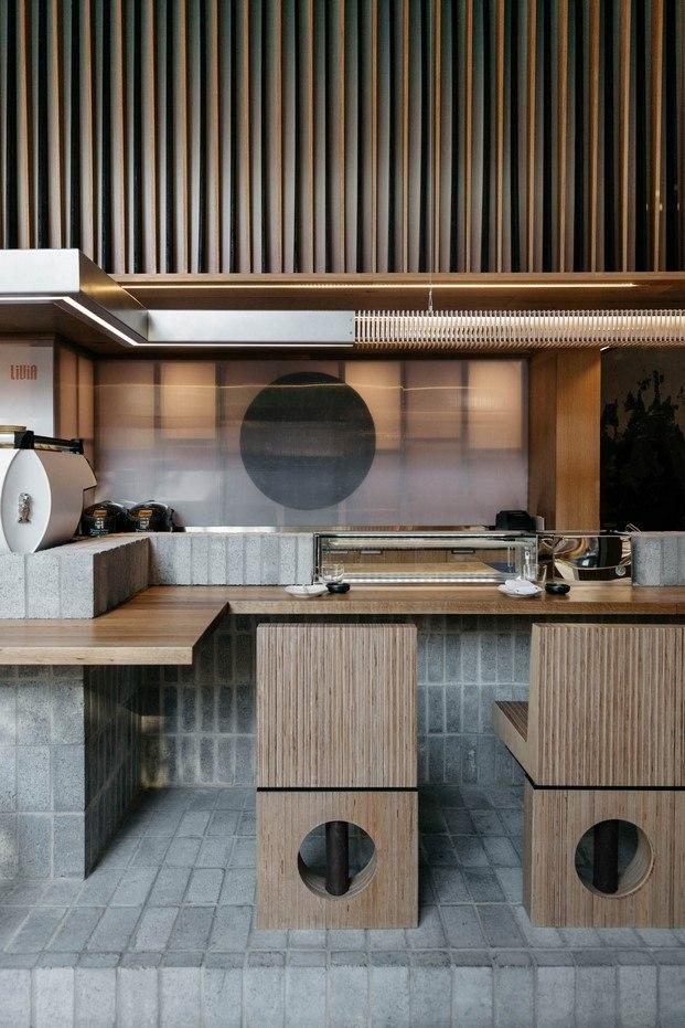cocina y barra restaurante ryu diariodesign