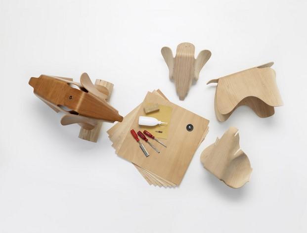 eames elephant madera diseño animal diariodesign