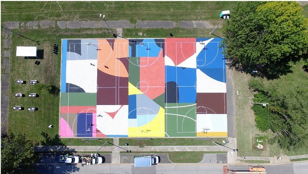 mosaico de color en campos deportivos william lachance st louis