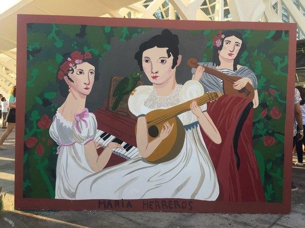 mural festival de les arts valencia maría herreros diariodesign