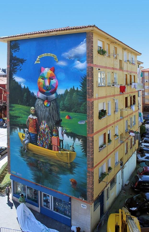 okuda san miguel arte urbano en santander diariodesign