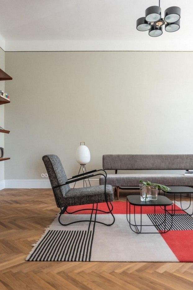 sillones alfombra estilo bauhaus loft diseño europeo en varsovia diariodesign