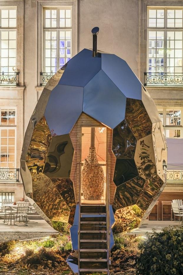 solar egg sauna en parís diariodesign