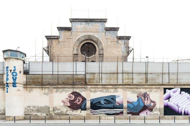 ús barcelona murales cárcel modelo arte urbano diariodesign