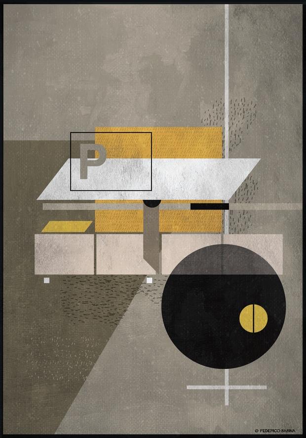 Ilustracion abstacta de una mesa de oficina Federico Babina diariodesign