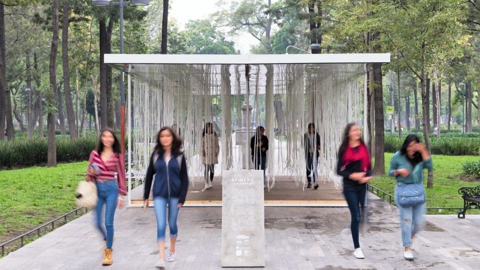 pabellón arte efímero taller david dana alzado cuerdas personas diariodesign