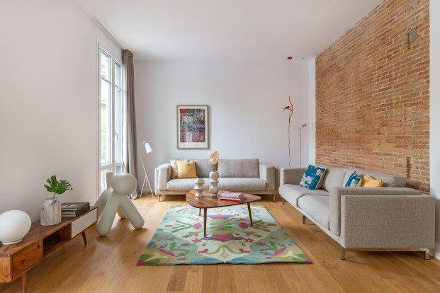 estilo escandinavo en un piso familiar del eixample de Barcelona diariodesign