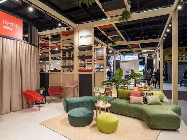 stand red orgatec 2018 diariodesign
