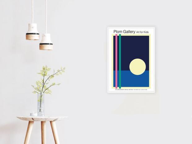 Poster luna anocheciendo mar diariodesign