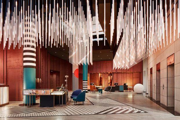 Recepción Lobby hotel moderno diariodesign