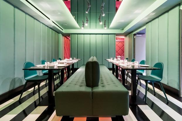 Sala privada para cenas restaurante moderno barcelona diariodesign