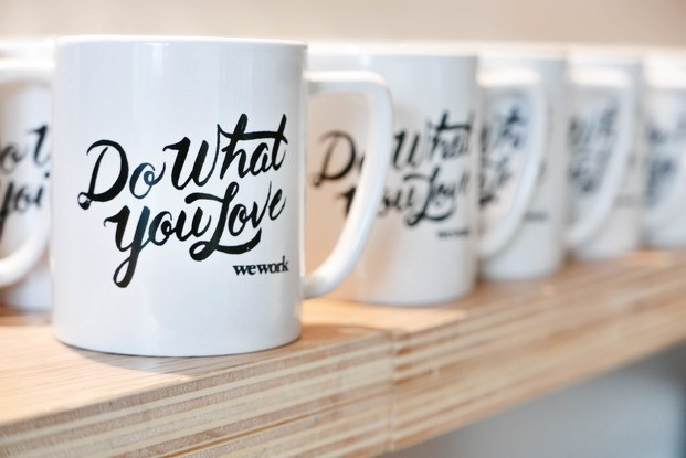 Tazas do what you love WeWork Glories Barcelona diariodesign