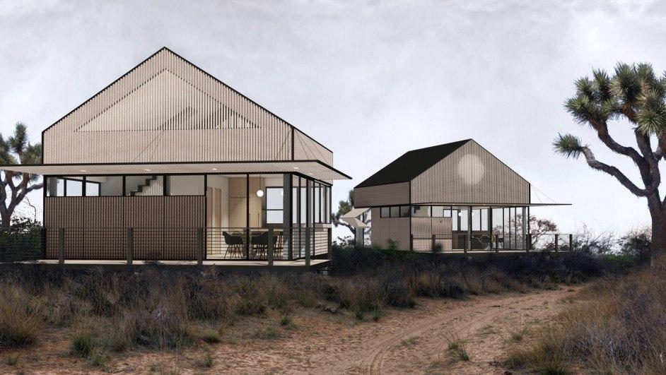 vivienda prefabricada yb1 exterior fachadas vidrio