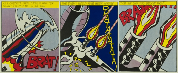 fundacion canal roy lichtenstein diariodesign as i openend fire 1966