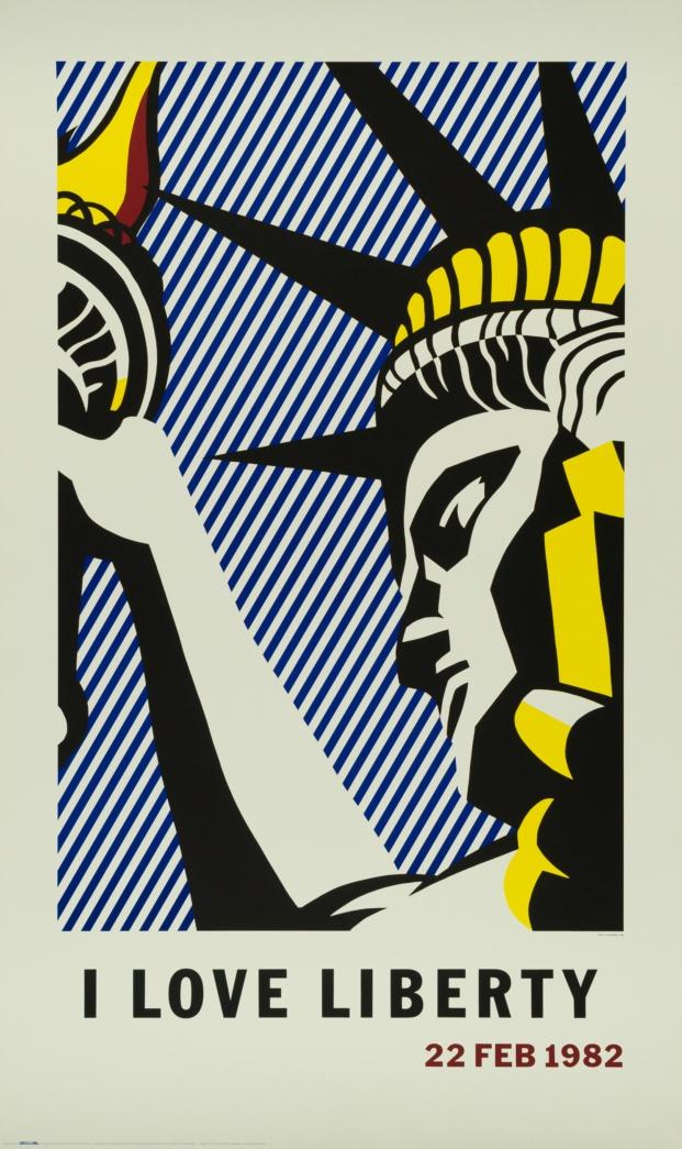 fundacion canal roy lichtenstein diariodesign i love liberty poster 1982