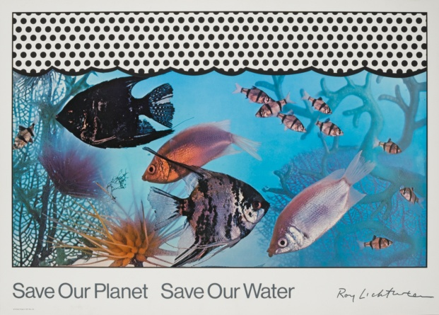 fundacion canal roy lichtenstein diariodesign save our planet save our water 1971