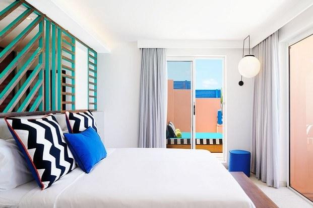 habitación con terraza hotel tropical salt of palmar diariodesign