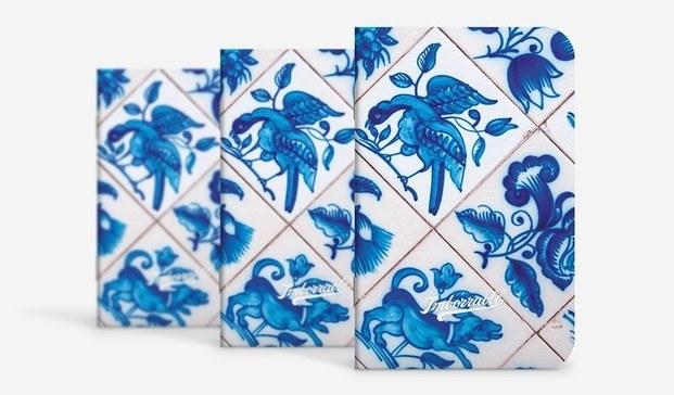 kit set pack tres libretas pequeñas estampado cerámicas lisboa imborrable diariodesign