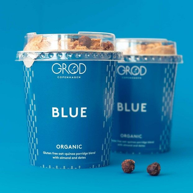 packaging azul vasos desayuno brunch groed copenhague diariodesign