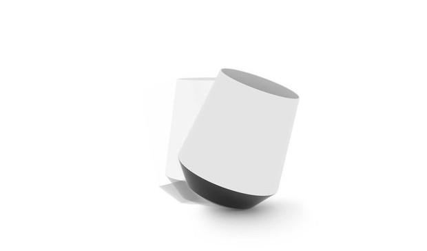 Papelera blanca con base esférica movimiento diariodesign
