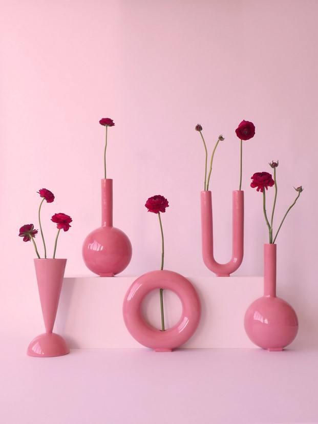 jarrones millennial pink valeria vasi diariodesign
