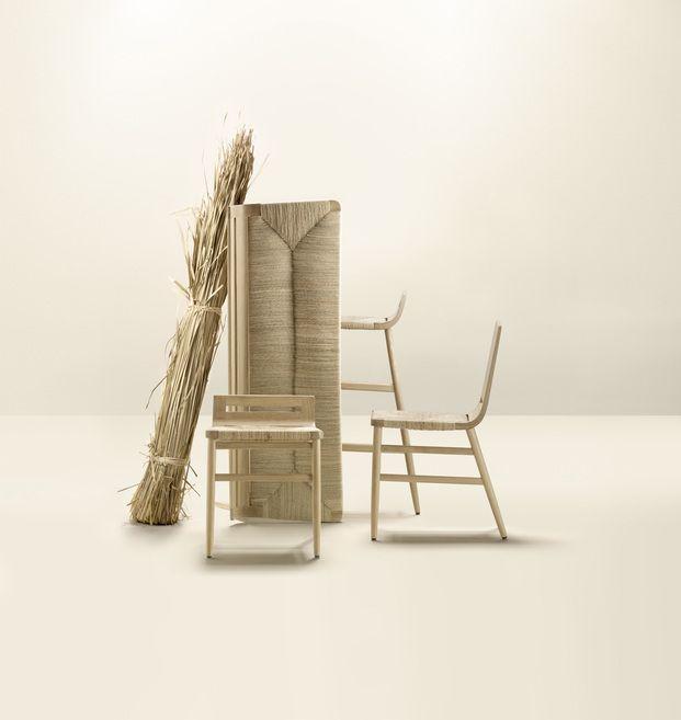 silla banco y taburete de paja tradicional alki diariodesign