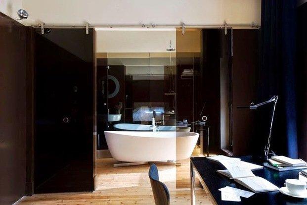 Habitación con bañera hotel Villa Clementina navarra - diariodesign