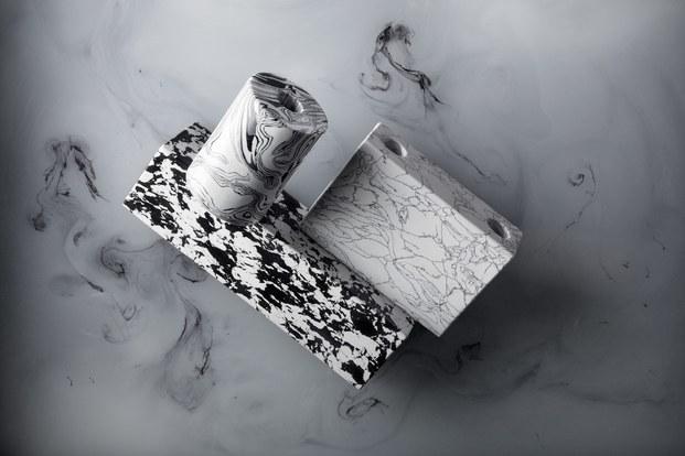 candelabros de mármol reciclado tom dixon diariodesign