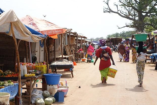 calle de senegal áfrica