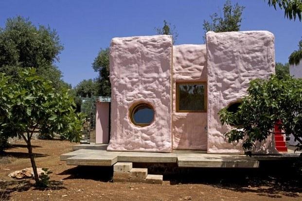casa campestre pescetrullo color rosa palo diariodesign