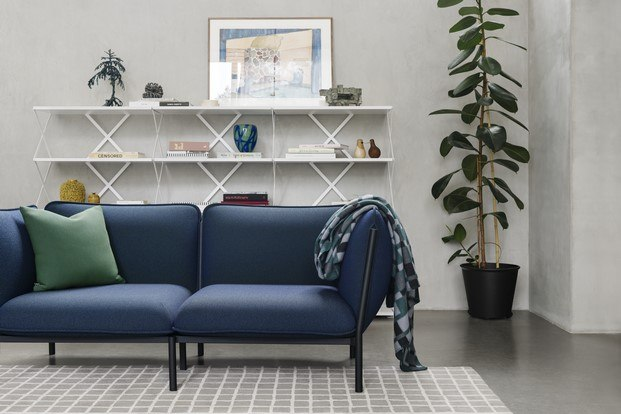 kumo sofá de hem azul diariodesign