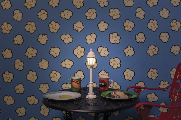 papel de pared pintado con palomitas pop corn wallpaper seletti diariodesign