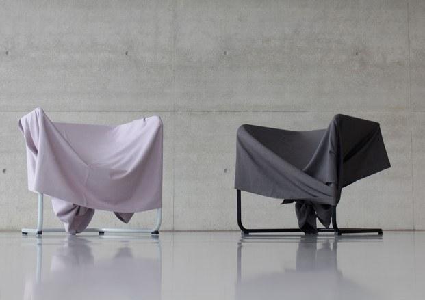 silla de tela y acero tubular sin forma selección diariodesign talento joven en imm cologne 2019 diariodesign